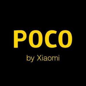 Groot logo op de achterzijde van de Xiaomi Poco M3 Smartphone