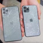 iPhone met gebarsten achterkant